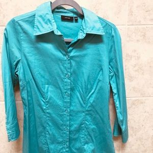 💥(3 for 20)Teal button down top